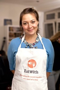 Wearing the official EatWith apron