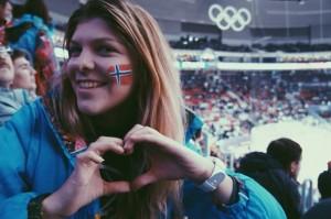 Kristina Savchuk'13 at the hockey game