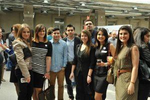 A group of FLEX alumni at the celebration