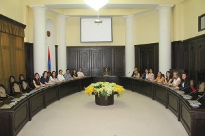 Meeting at the Government Building
