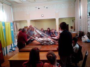 Scene from Kateryna Kharenko '09 OSCE election observer mission interpreting experience.