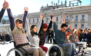 """Street flashmob during """"Yes We Can!"""" project by Rati Papunashvili '11"""