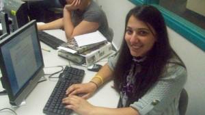 Anjela Pakhlajian '10 updating infomration for the database rally