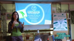 Valeria 5 Presentation at the social entrepreneurship seminar