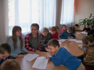 Project planning workshops - younger group