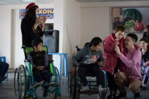 Navruz celebration in orphanage for disables in Hispr