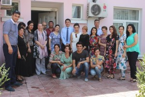 The staff of IOM mission in Tajikistan