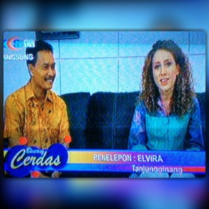 me on Tanjungpinang Local TV talking about the importance of education and volunteering
