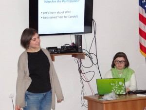 Nune  Harutyunyan - Presenters doing an ice breaker, Gyumri Session, 20 Nov, Nune Harutyunyan