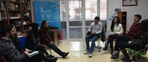 Armenia, Abovyan, FLEX Alumni and American Corner Charentsavan members debating on educational systems, Nov. 19